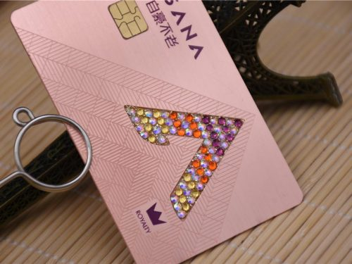 Metal Card with Jewels