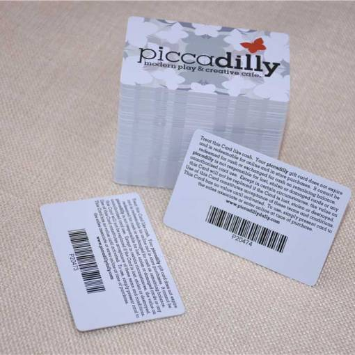 Plastic Business Card with Barcode