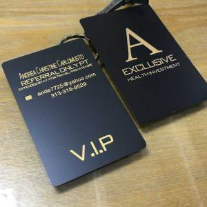 Luxury Matte Black Metal Cards