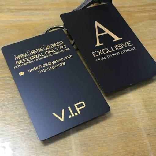 Luxury Matte Black Metal Cards