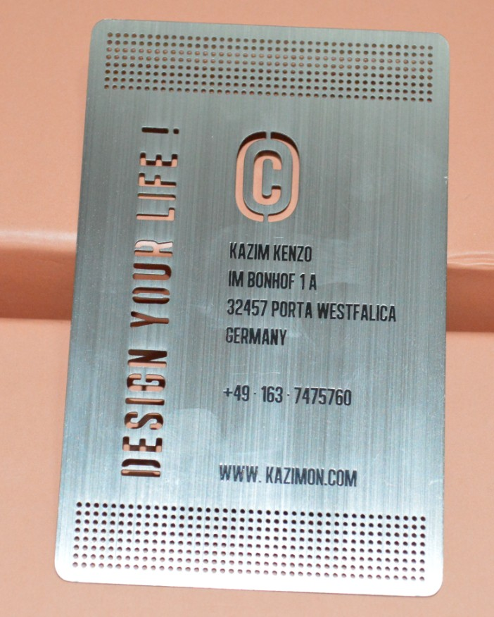 Premium metal high end business cards oh my print solutions metal business card supplier reheart Image collections