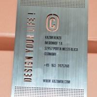 Metal business card supplier
