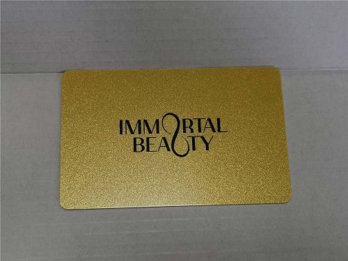 Gold Card with Sparkles