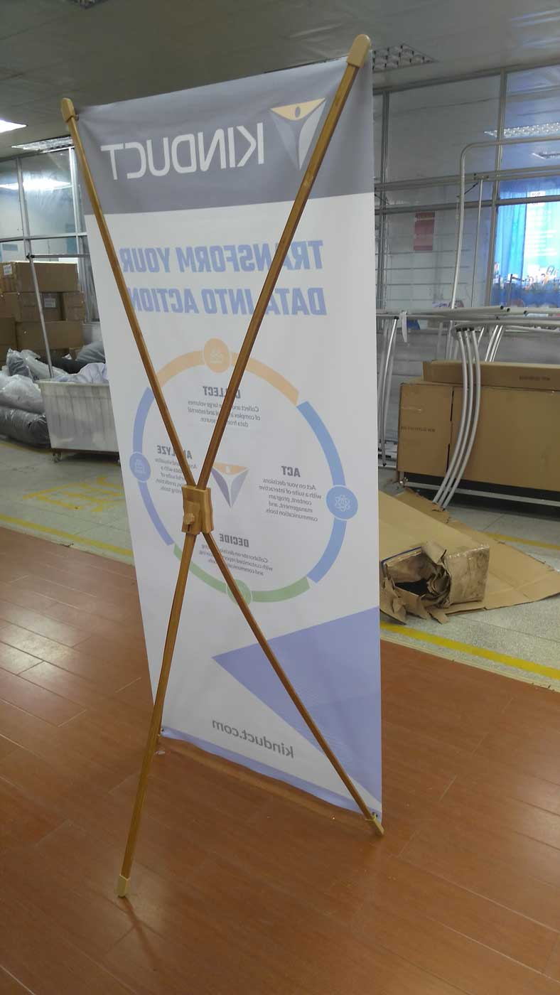 Bamboo X Frames - Bamboo Banner Stands - Oh my Print Solutions