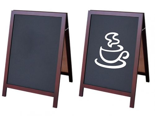 A-Frame Chalkboard with Wood Frame