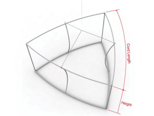 Concave triangle frame