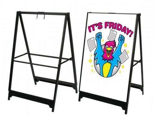 Heavy Duty Strong A Frame Sidewalk Signs