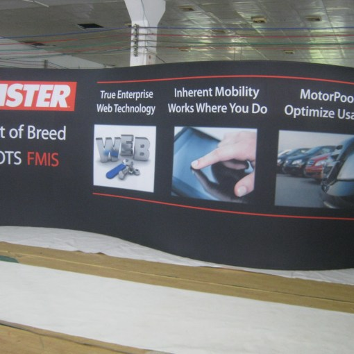 S Shaped Trade Show Wall