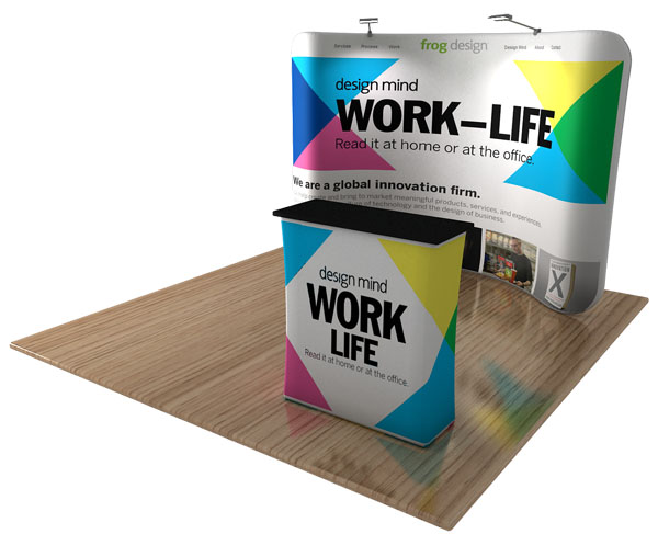 Fabric Exhibition Stand Game : Custom waveline tension fabric displays trade show backdrops