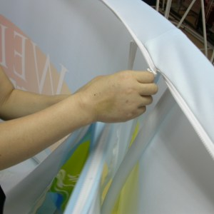 Zipper Tension Fabric for hanging banners