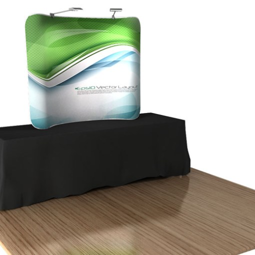 Tabletop Trade Show Display Front view 6 foot on a 8 foot table