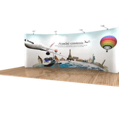 Tension Fabric Display 20 Foot Wide