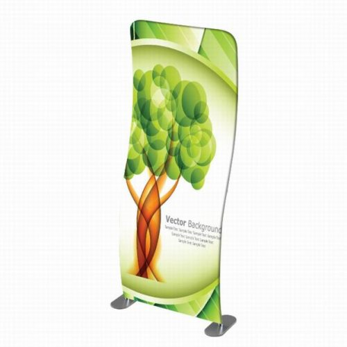 Curved Tension Fabric Banner Stand
