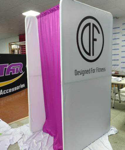 Portable Change Rooms with logo