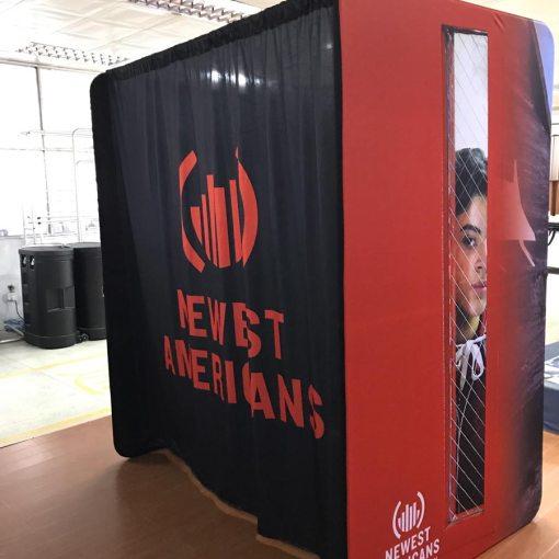 Large custom printed portable dressing room