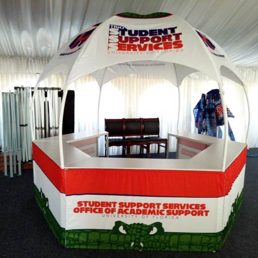 Printed retail booth tent