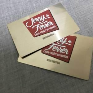 Brushed Metal Biz cards