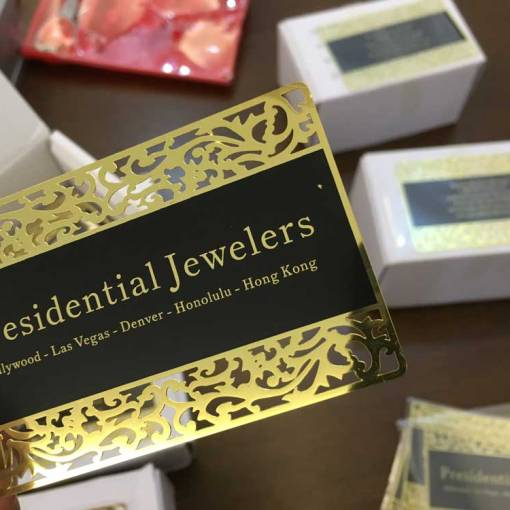 Gold-Metal-Business-Cards-with-Lace