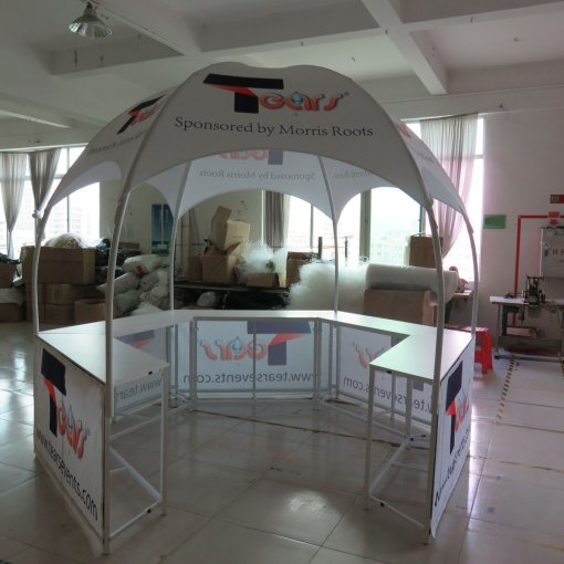 Hexagon-Shaped-Kiosk-Dome-Tent