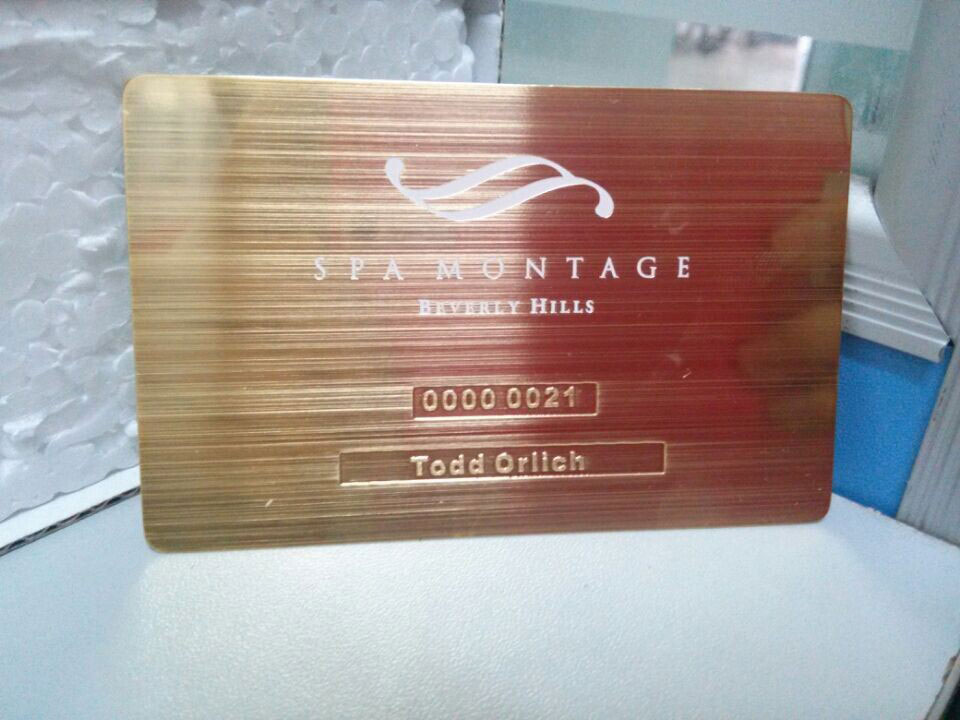 Gold metal business cards luxury and stylish free shipping brushed metal card reheart Images