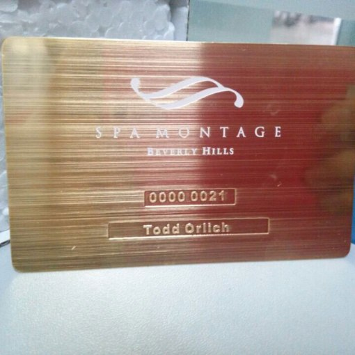 Brushed metal card