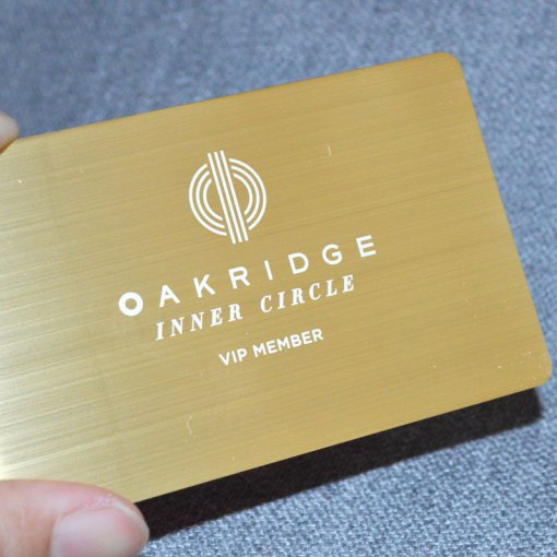 Vancouver-Metal-Gold-Membership-Card
