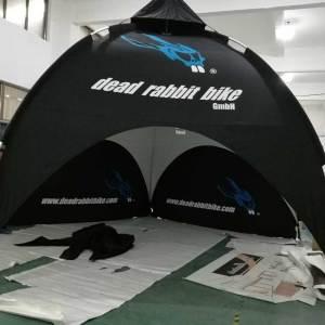 Custom printed dome tents