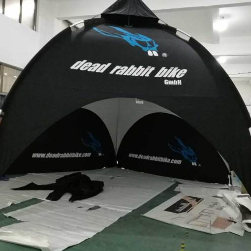 Custom printed dome tents