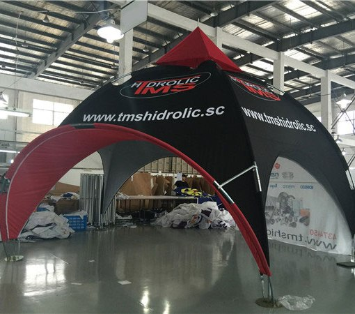 Arch tent with Awning