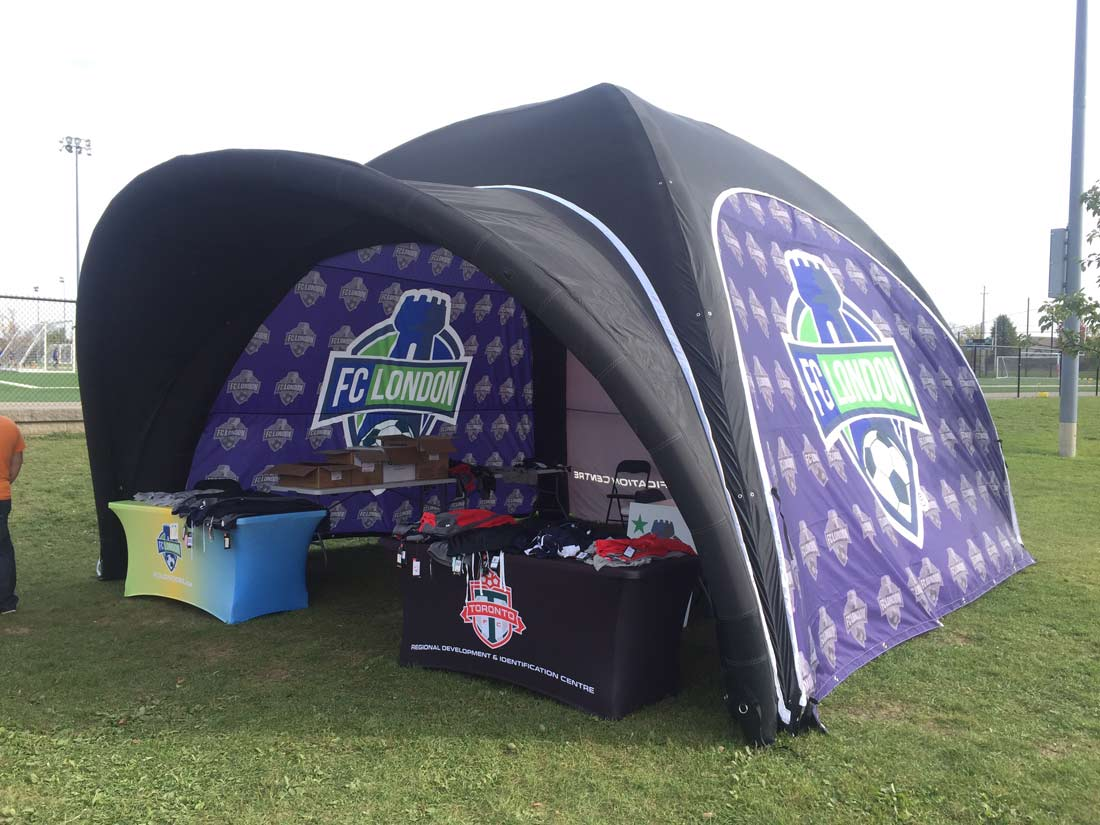 20 Foot Inflatable Tent Shipped to London  sc 1 st  Oh my Print Solutions & Inflatable Tents - Air Tents that Blow up - Easy quick Set-up ...
