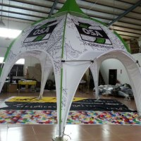 Printed Dome Arch Tent Vancouver Toronto