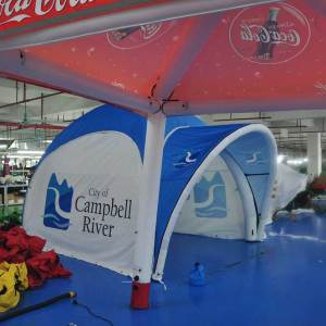 Inflatable X tent Campbell River Canada
