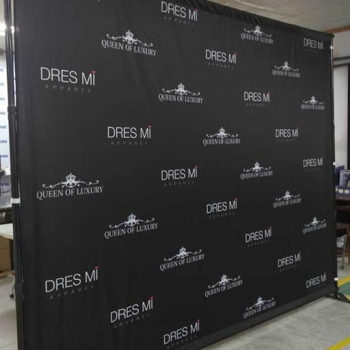 Fabric Backdrop Media Wall