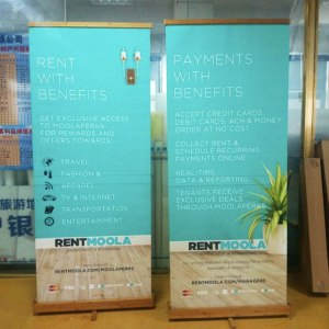 Wooden Bamboo Sign Stands