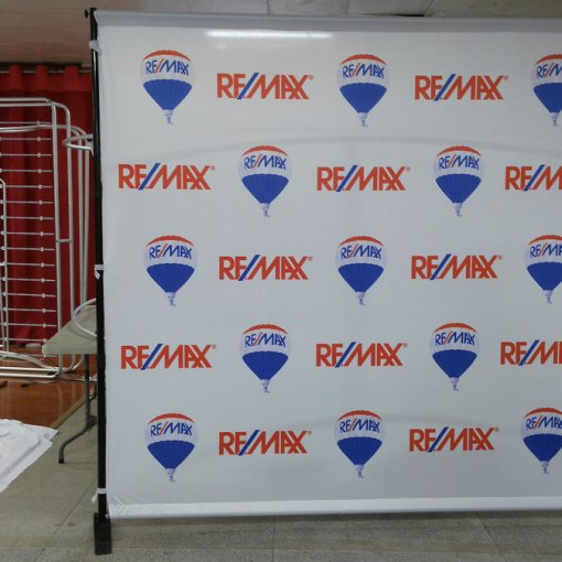 Step and Repeat Backdrop Stand Alberta