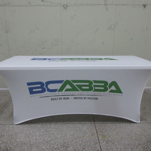 Tradeshow spandex table cover