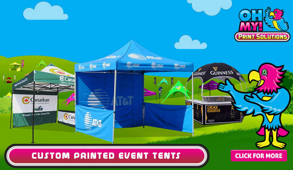 Canada plus California Custom tent canopy printing