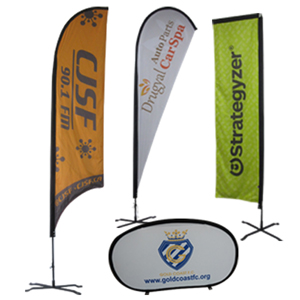 Printed Feather Flags & Pop Up Banners