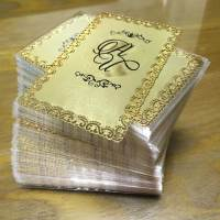Frosted Metal Business Cards