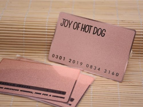 Rose Gold Metal Business Cards Frosted