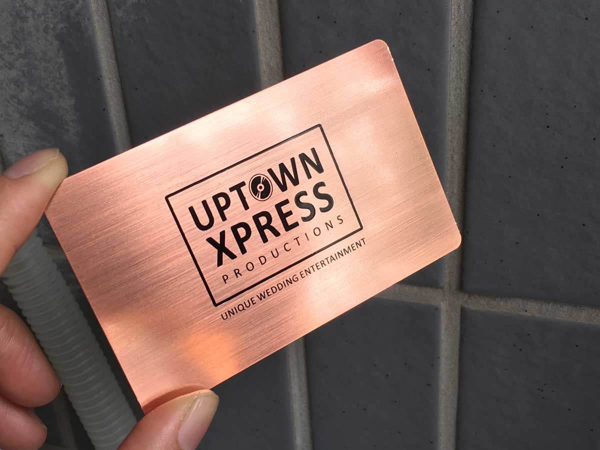 Contemporary gold metal business cards adornment business card rose gold metal business cards free shipping usa canada europe reheart Choice Image