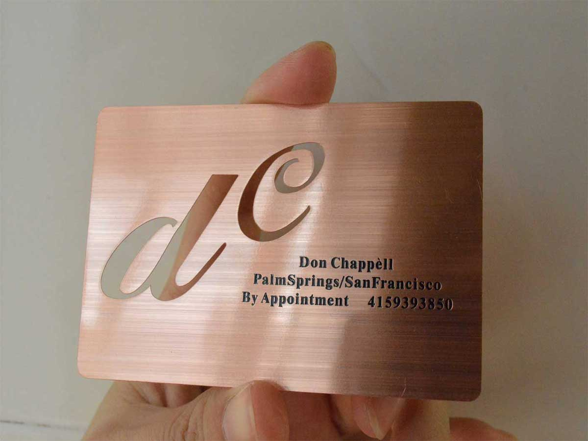 Rose Gold Metal Business Cards - Free Shipping - USA - Canada - Europe