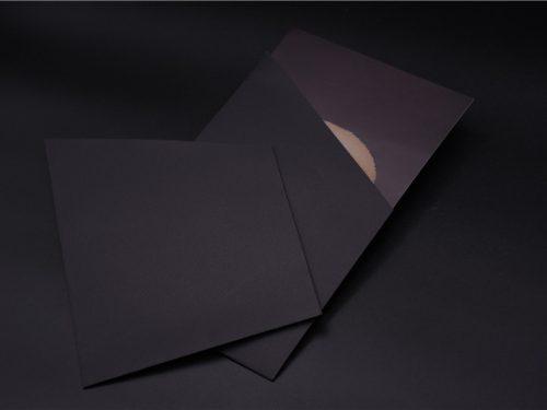 Die Cut Matte Black Business Card Holder