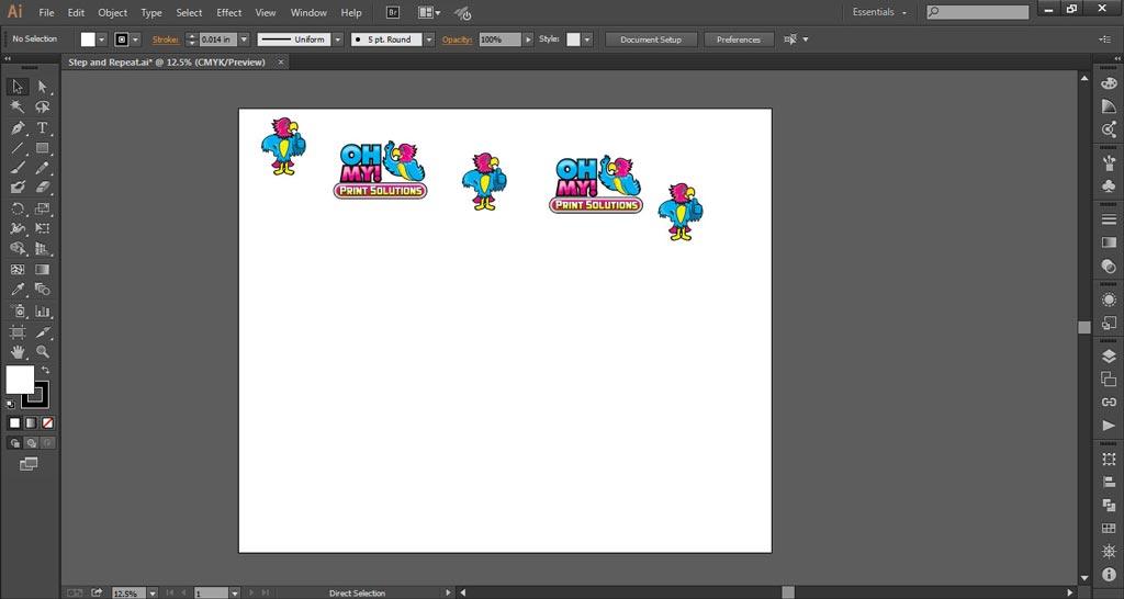 Logo Wall Instructions Illustrator Step 3