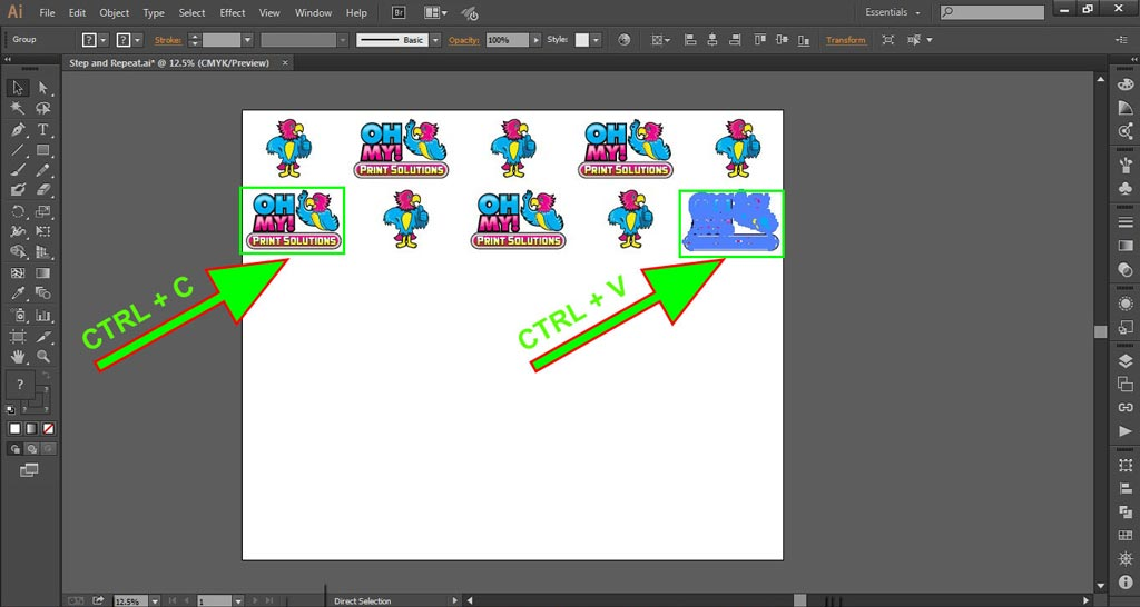 Logo Wall Instructions Illustrator Step 5-d