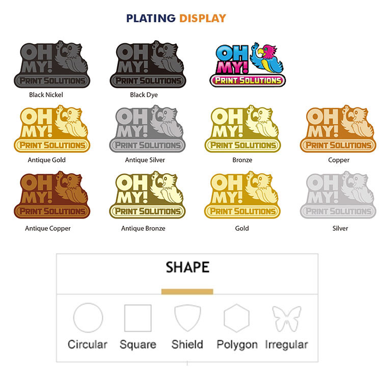 Custom Coin Shapes and Finishings