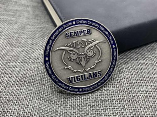 Custom Coin Frosted Background with Enamel