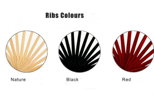 Hand Fan Rib Colours