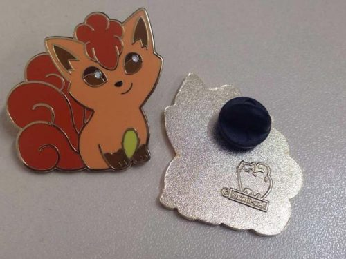 Custom Pins with Engraved Stamp on Back.