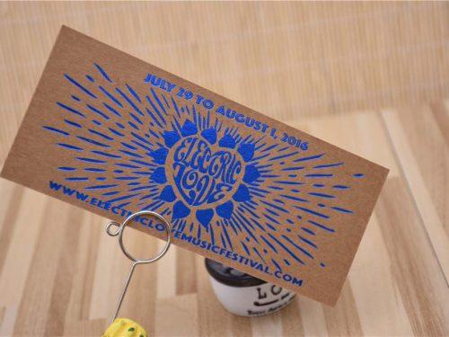 Blue Foil Kraft Paper Cards